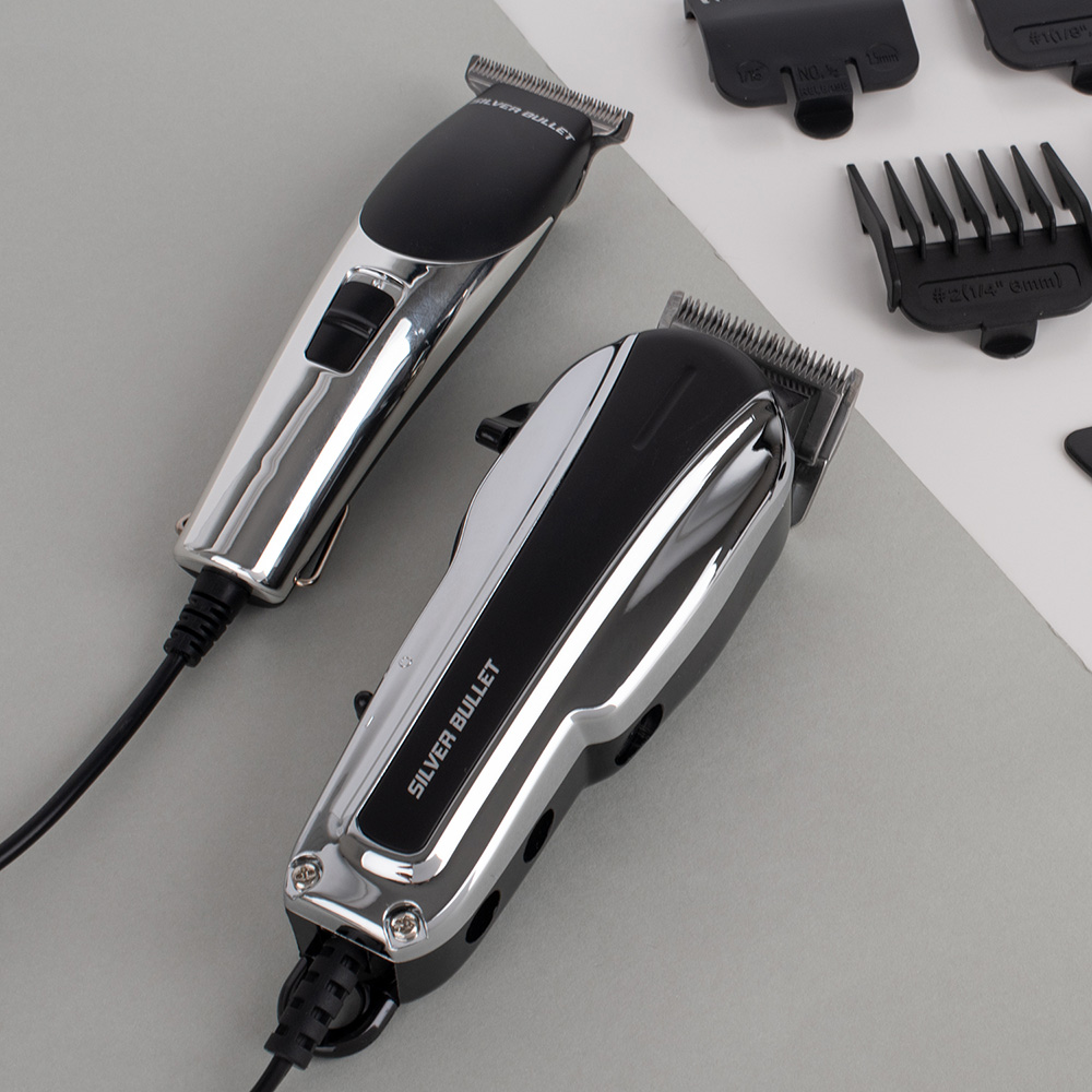 Silver Bullet Mini Buzz Hair Trimmer Stylised