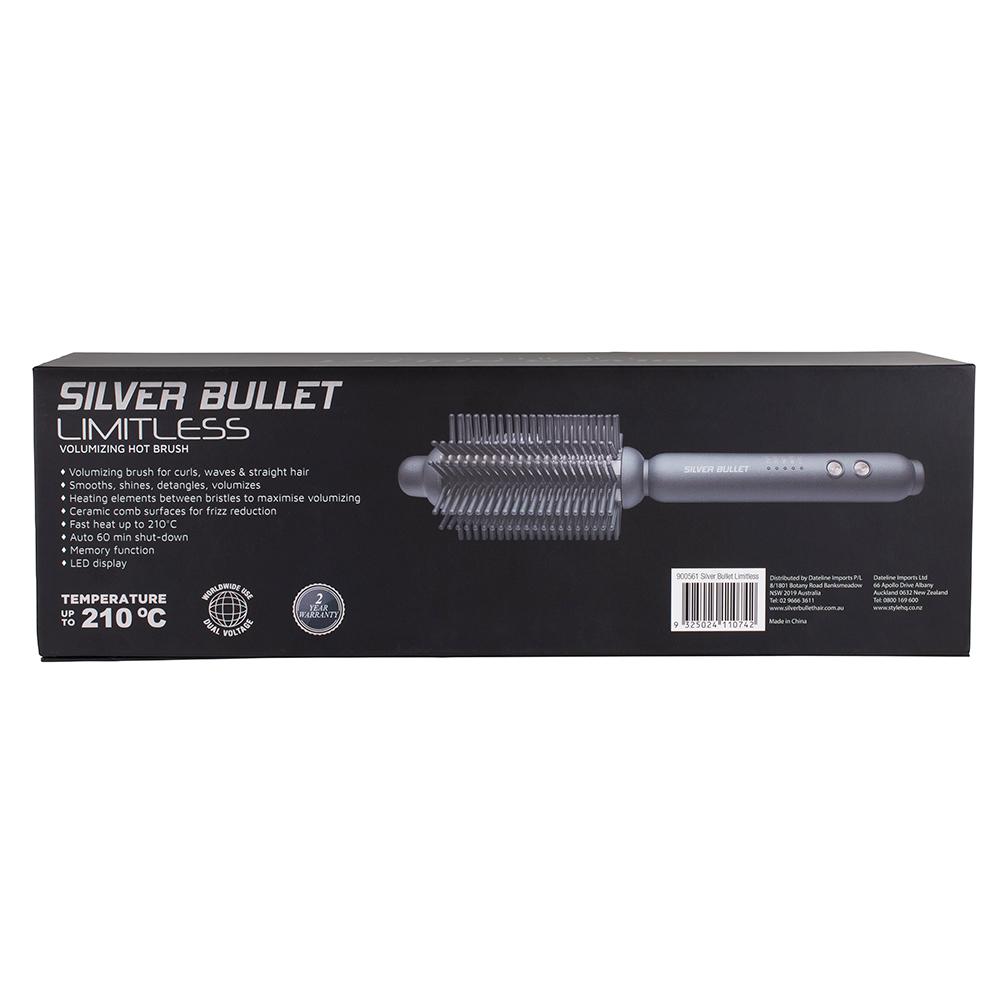 Silver Bullet Limitless Volumising Hot Brush packaging